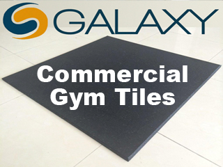 Commercial gym tiles