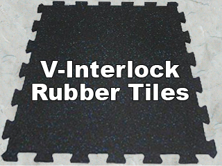 V Interlock rubber tiles